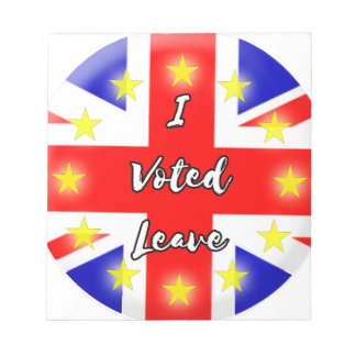 i voted leave notepad