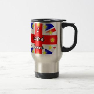 i voted leave travel mug