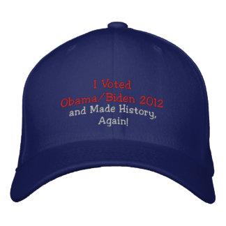 I Voted Obama, Biden 2012 and Made History, Again! Baseball Cap