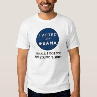 I VOTED OBAMA! T-SHIRTS