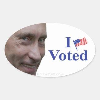 I Voted Oval Sticker