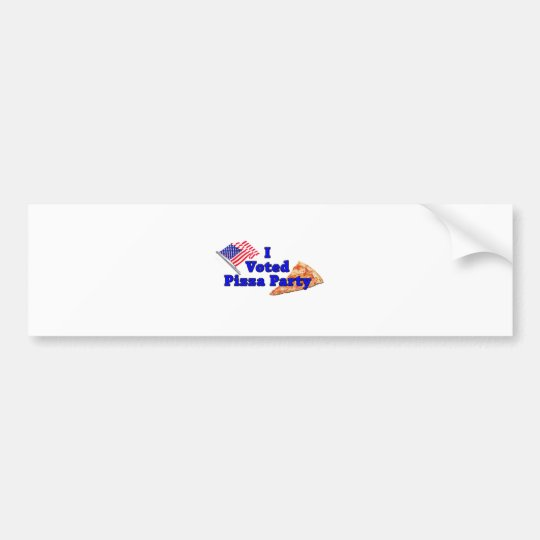 I Voted Pizza Party Bumper Sticker