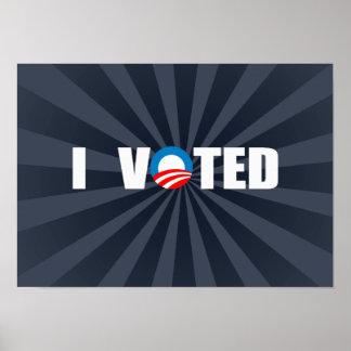 I VOTED POSTER