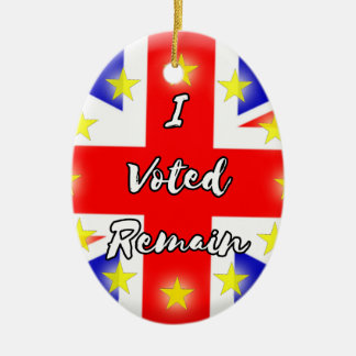 I voted Remain History Ceramic Oval Decoration