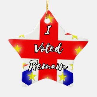 I voted Remain History Ceramic Star Decoration