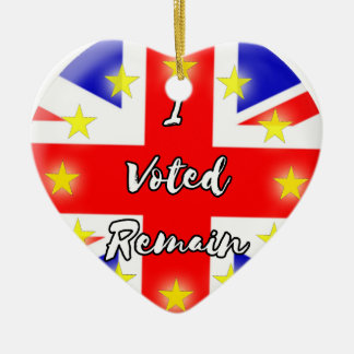 I voted Remain History Christmas Ornament