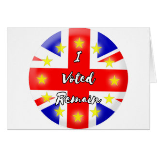 I voted Remain History Greeting Card