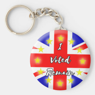 I voted Remain History Key Ring
