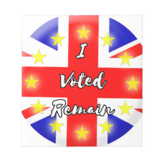 I voted Remain History Notepads