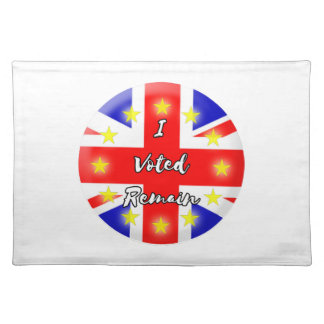 I voted Remain History Placemat