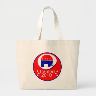 I Voted Republican in 2010 Canvas Bags