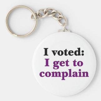 I voted so I get to complain Basic Round Button Key Ring
