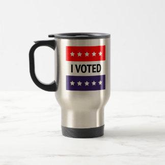 I Voted Stainless Steel Travel Mug