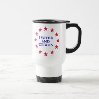 I Voted We Won Travel Mug