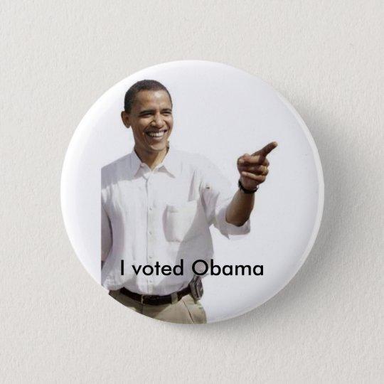 I voteed Obama 6 Cm Round Badge