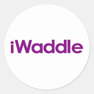 I Waddle Round Sticker