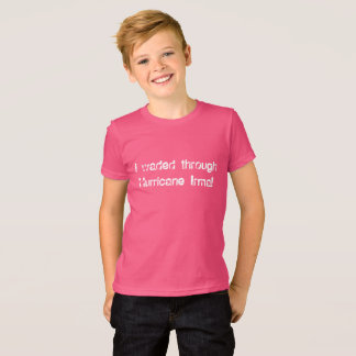 I waded through Hurricane Irma fun font block T-Shirt