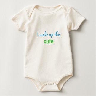 I Wake Up This Cute Organic Onsie Baby Bodysuit