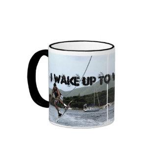 I WAKE UP TO WAKEBOARD RINGER MUG