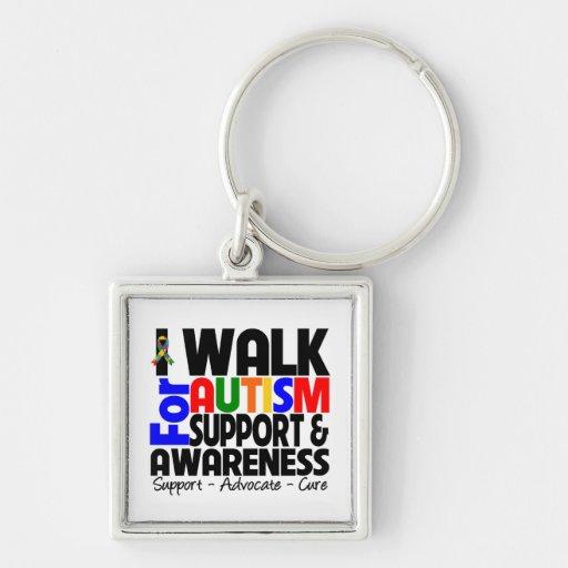 I Walk For Autism Awareness Key Chain