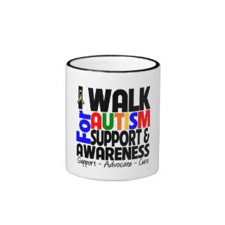 I Walk For Autism Awareness Ringer Coffee Mug