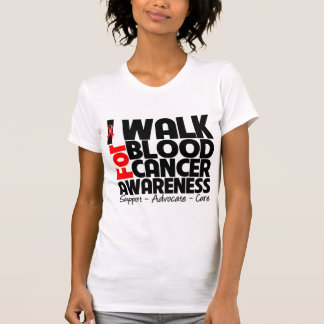 I Walk For Blood Cancer Awareness Tee Shirts