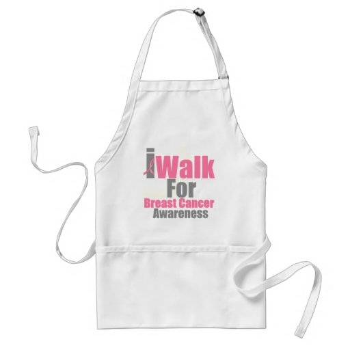 I Walk For Breast Cancer Awareness Apron