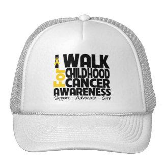 I Walk For Childhood Cancer Awareness Cap