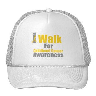 I Walk For Childhood Cancer Awareness Mesh Hat
