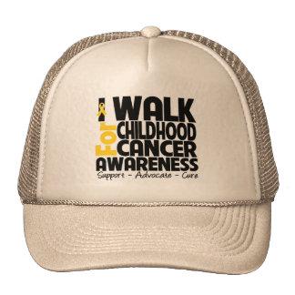I Walk For Childhood Cancer Awareness Trucker Hat