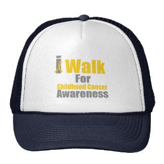 I Walk For Childhood Cancer Awareness Hat