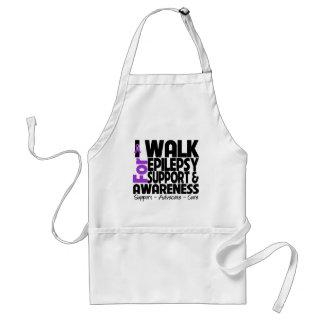 I Walk For Epilepsy Awareness Adult Apron