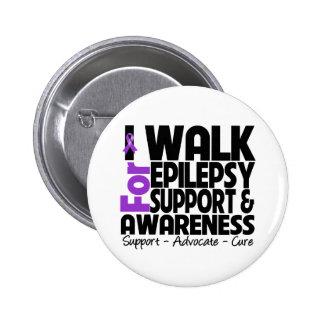 I Walk For Epilepsy Awareness Pinback Button