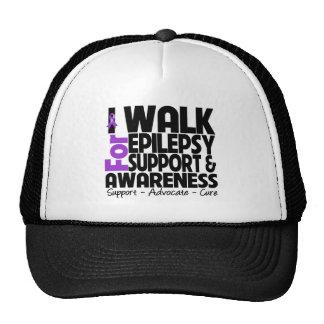 I Walk For Epilepsy Awareness Trucker Hats