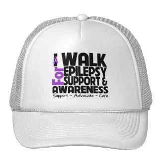 I Walk For Epilepsy Awareness Mesh Hat