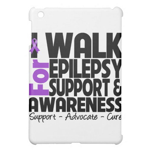 I Walk For Epilepsy Awareness iPad Mini Covers