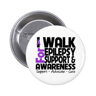 I Walk For Epilepsy Awareness Pinback Button
