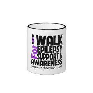 I Walk For Epilepsy Awareness Ringer Mug