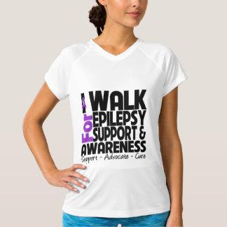 I Walk For Epilepsy Awareness Tee Shirts