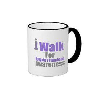I Walk For Hodgkin's Lymphoma Awareness Coffee Mugs