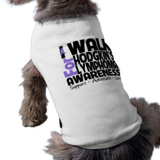 I Walk For Hodgkin's Lymphoma Awareness Sleeveless Dog Shirt