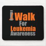 I Walk For Leukaemia Awareness Mouse Mats
