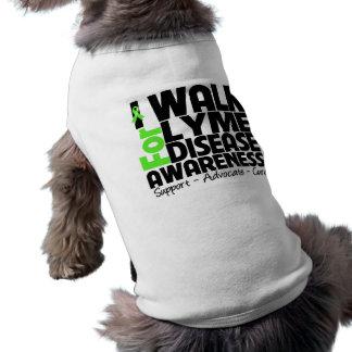 I Walk For Lyme Disease Awareness Dog Tee Shirt