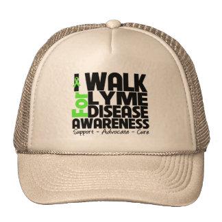I Walk For Lyme Disease Awareness Trucker Hats