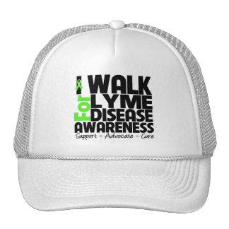 I Walk For Lyme Disease Awareness Mesh Hats