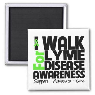 I Walk For Lyme Disease Awareness Fridge Magnet