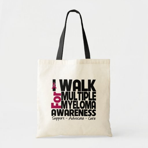 I Walk For Multiple Myeloma Awareness Tote Bags