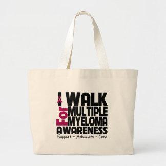 I Walk For Multiple Myeloma Awareness Canvas Bag