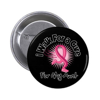 I Walk For My Aunt - Breast Cancer 6 Cm Round Badge