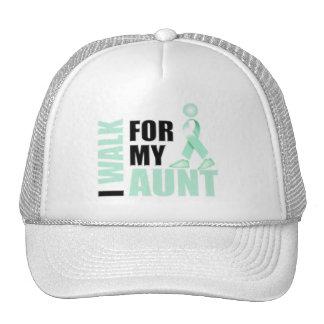 I Walk for my Aunt teal Cap